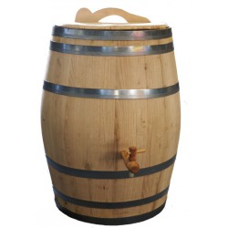 Real wooden chestnut rain barrel 10 gallons complete edition
