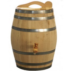 Real wooden chestnut rain barrel 52,8 gallons complete edition