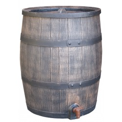 Synthetic wood look rain barrel 52 gallons